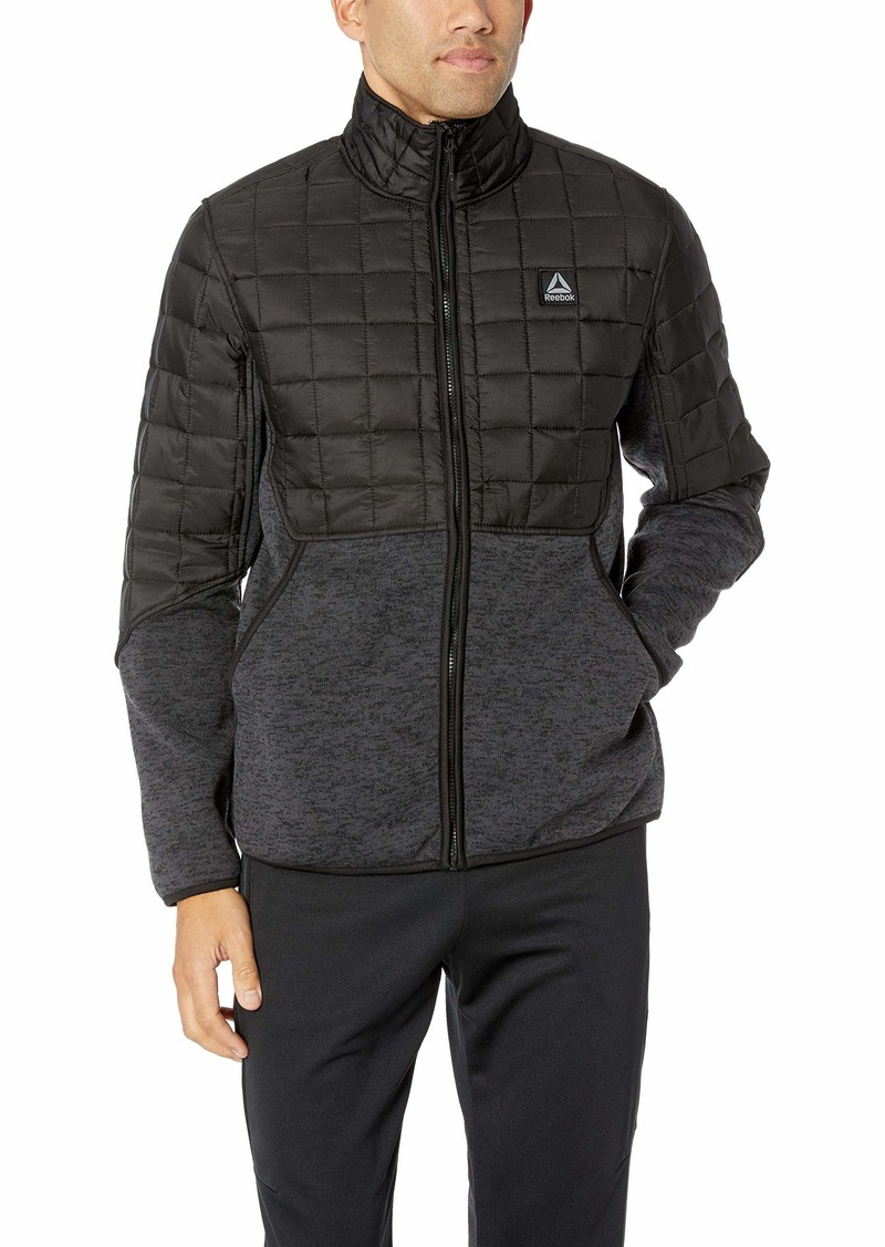 Reebok Men's Standard Sweater Fleece Active Jacket  L