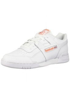 Reebok Men's Workout Plus Shoes Fcu-White/Bright Lava  M US