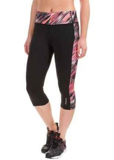 Reebok Printed Ikat Spice Capris (For Women)