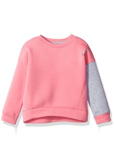 Reebok Big Girls' Fleece Pullover 3023-Azalea Pink