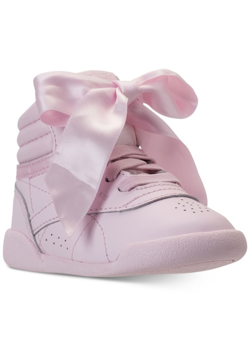 5135a310 Toddler Girls' Freestyle Hi Satin Bow Casual Sneakers from Finish Line