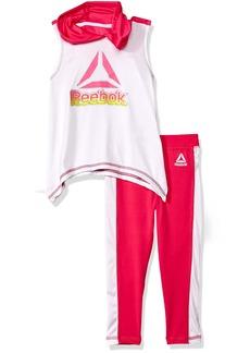 Reebok Toddler Girls' Tank and Pant Set Pink Glow-Cxokf