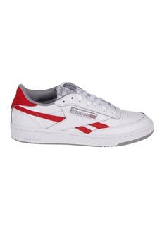 Reebok White And Red Reebok Revenge Plus Sneakers