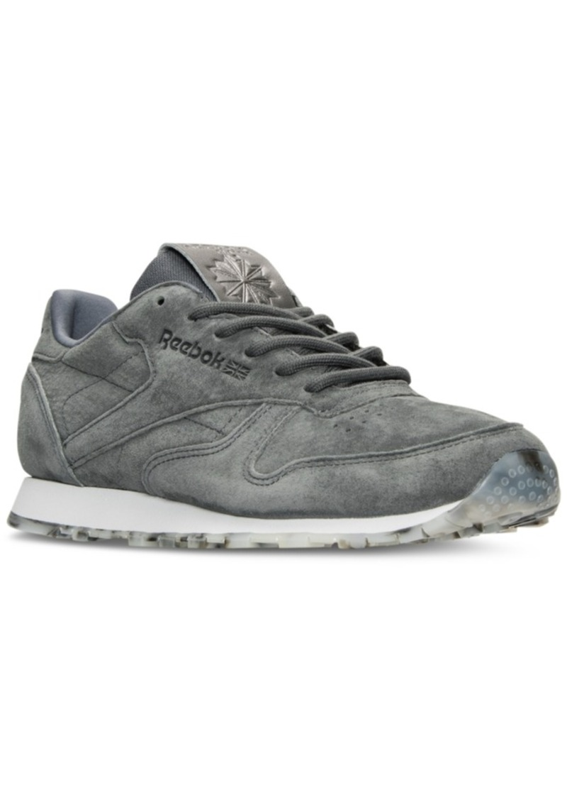 7ed634bea8c6a Reebok Women s Classic Leather Shimmer Casual Sneakers from Finish Line
