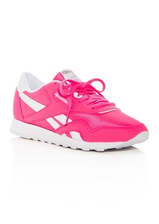Reebok Women's Classic Nylon Brights Lace Up Sneakers