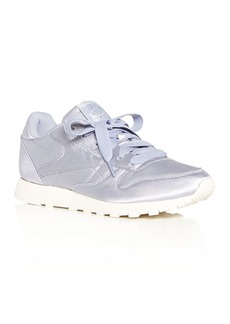 Reebok Women's Classic Satin Lace Up Sneakers