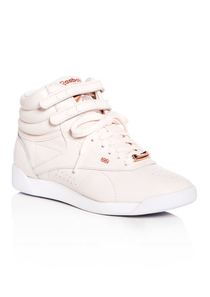 c8efb56785fa2 Reebok Reebok Women s Freestyle Hi Leather High Top Sneakers