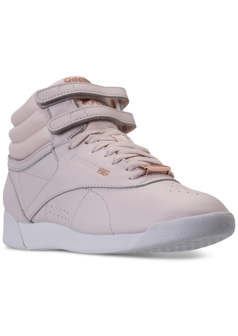 8cae32ca95484 Reebok Women s Freestyle Hi Top Muted Casual Sneakers from Finish Line