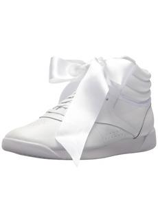 Reebok Women's F/S HI Satin Bow Sneaker
