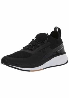 Reebok Women's FUSIUM Run 20 Sock Shoe Black/White Rubber Gum  M US