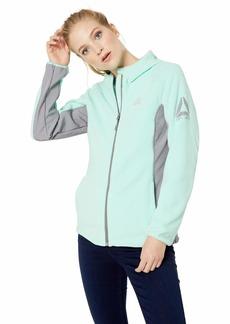 Reebok Women's Hooded Polar Fleece Active Jacket Mint M