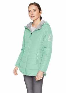 Reebok Women's Monkey Fleece Active Jacket Reversible deep Mint/Grey M