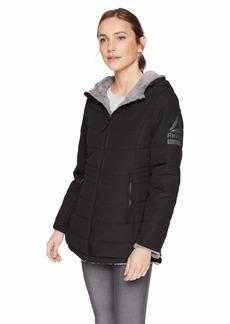 Reebok Women's Reversible Monkey Fleece Active Jacket Black M