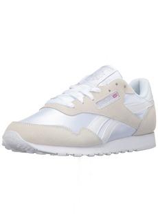 Reebok Women's Royal Nylon Fashion Sneaker White/White/Steel 5 M US
