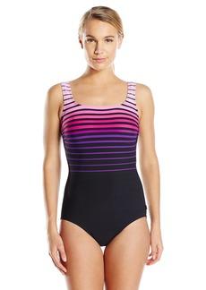 Reebok Women's Shining Sea One-Piece Swimsuit