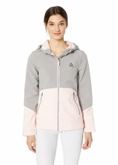 Reebok Women's Softshell Active Jacket Hooded with Details Light Pink XL