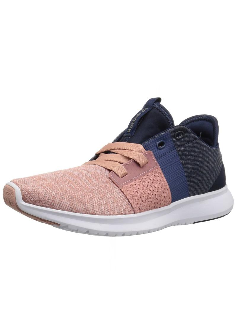 4a71a451fd91 Reebok Women s TRILUX Run Sneaker Chalk Pink Washed Blue coll. Navy White