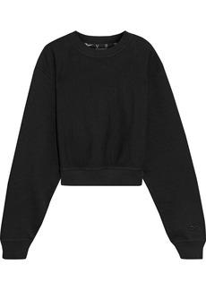 Reebok X Victoria Beckham Woman Cropped French Cotton-terry Sweatshirt Black