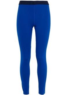 Reebok X Victoria Beckham Woman Monogram-trimmed Stretch Leggings Royal Blue
