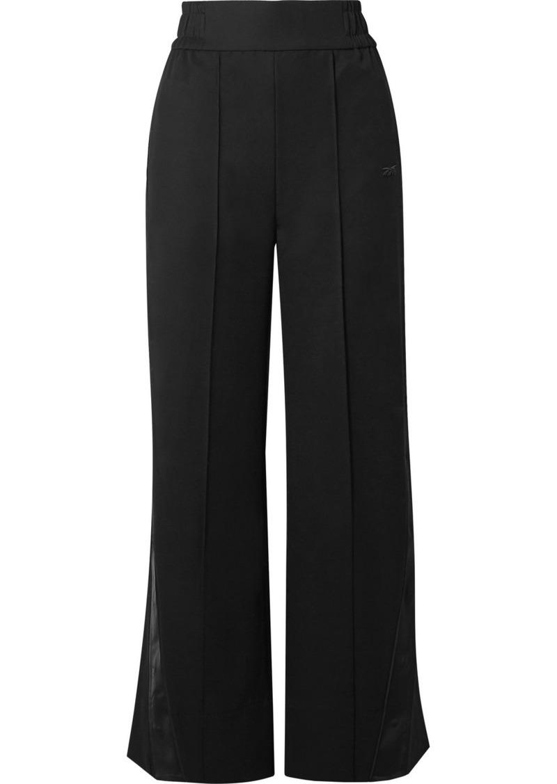 Reebok Satin-trimmed Wool-twill Track Pants