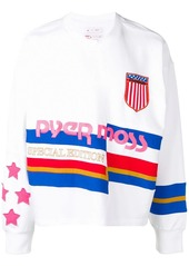 Reebok striped branded sweater
