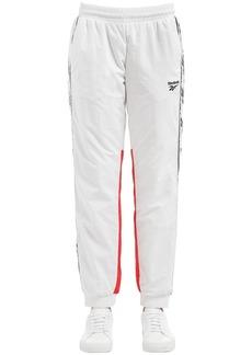 Reebok Two Tone Track Pants W/ Logo Side Bands
