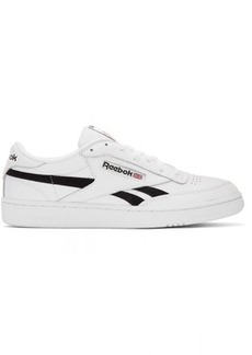 Reebok White & Black Club C Revenge MU Sneakers