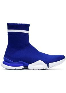 Reebok white and blue Sock Runner sneakers