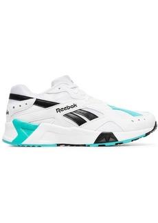 Reebok white, blue and black aztrek sneakers