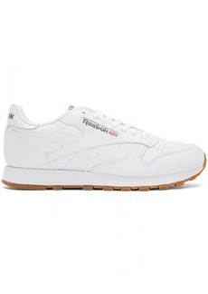 Reebok White Classic Glide Sneakers