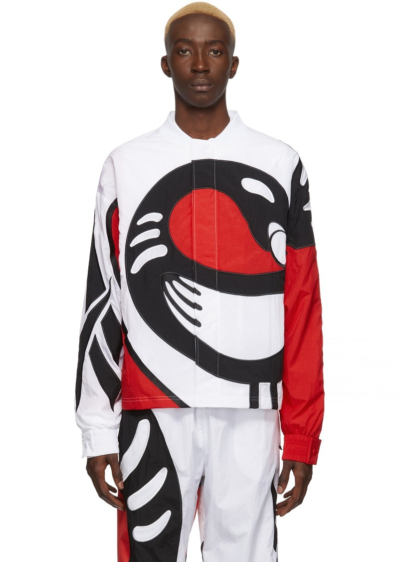 Reebok White Collection 3 Sankofa Bomber Jacket