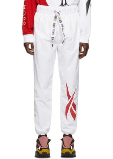 Reebok White Collection 3 Woven Franchise Track Pants