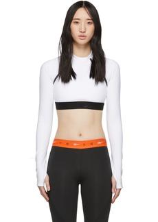 Reebok White Crop Long Sleeve T-Shirt