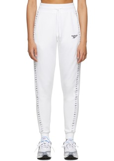 Reebok White Vector Lounge Pants