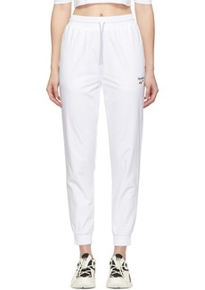 Reebok White Vector Track Pants