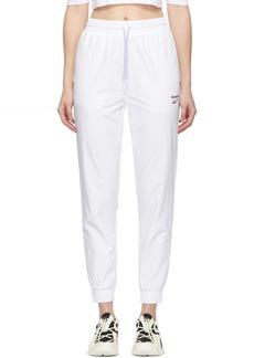 Reebok White Vector Track Pants