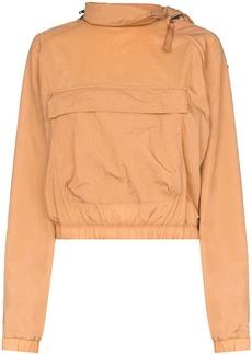 Reebok x Victoria Beckham zip neck logo hoodie