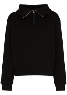 Reebok cropped zip-up sweatshirt