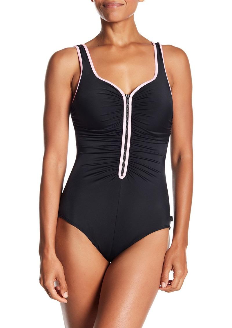 Reebok Zigzag Zip One-Piece Swimsuit