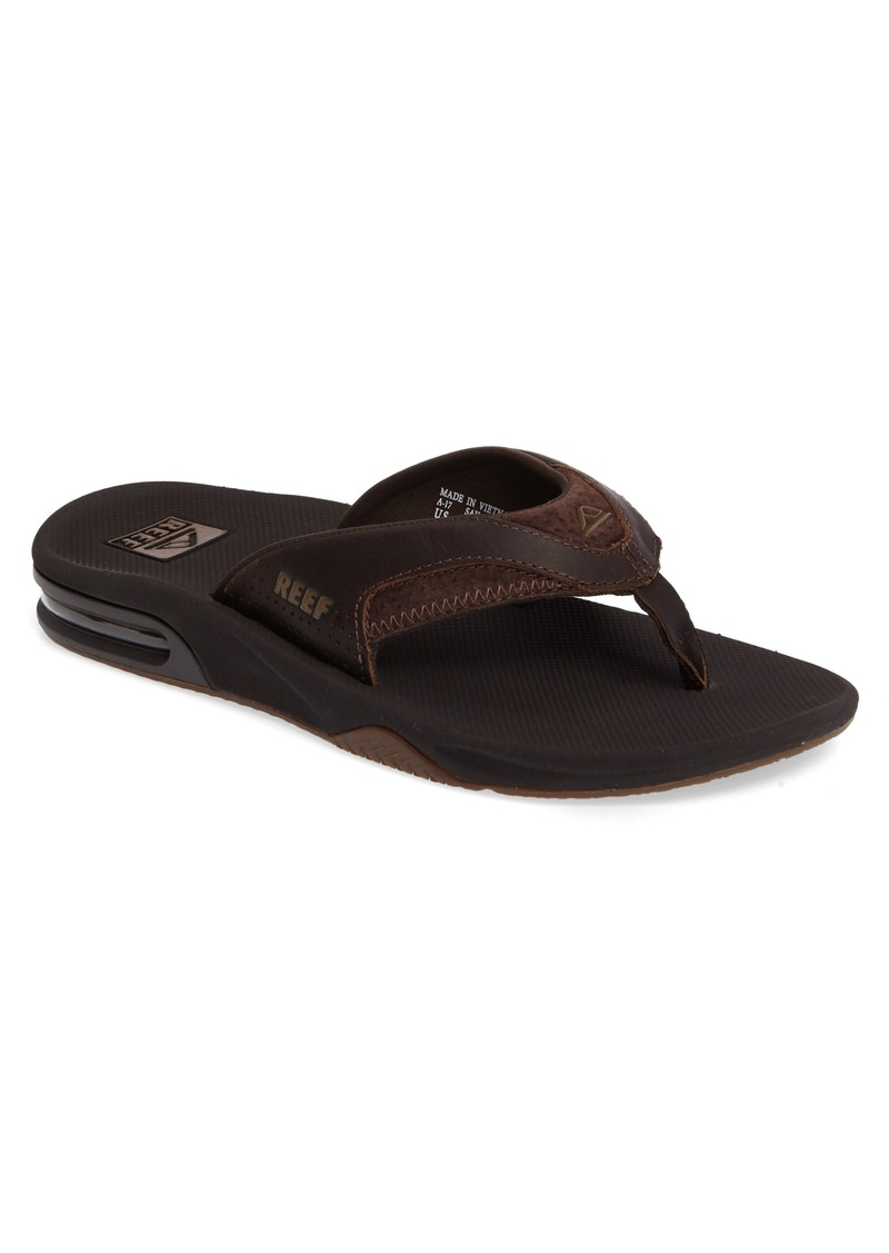 Reef 'Fanning Leather' Flip Flop (Men)