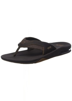 Reef Fanning Leather Sandals | Bottle Cap Opener Flip Flops for Men
