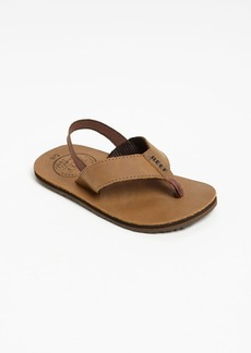 Reef 'Grom' Leather Flip-Flop (Baby, Walker, Toddler, Little Kid & Big Kid)