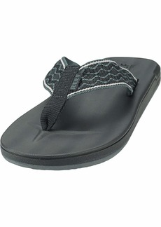 Reef Men's Cushion Smoothy Sandal black 0 Medium US