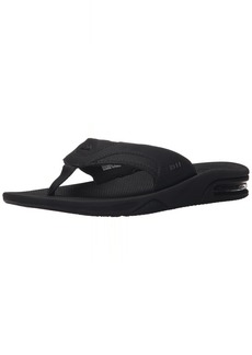 Reef Men's Fanning Flip Flop ALL ALL BLACK  M US
