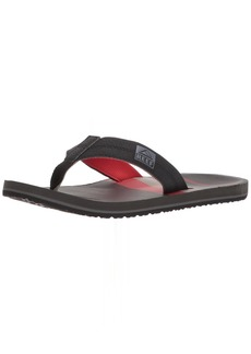 Reef Men's HT Prints Sandal Black/red/Stripes