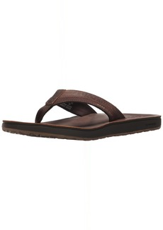 REEF Men's Leather Contoured Cushion Sandals