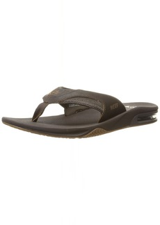Reef Men's Leather Fanning Sandal   M US