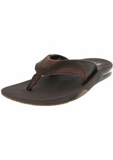 Reef Men's Leather Fanning Sandal  12 M US