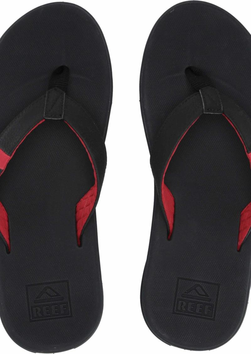 Reef Men's Slammed Rover Sandal Grey/Black/red 00 M US