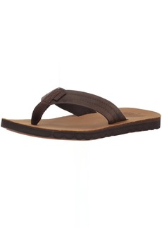 Reef Men's Voyage LE Sandal Dark Brown/tan  M US